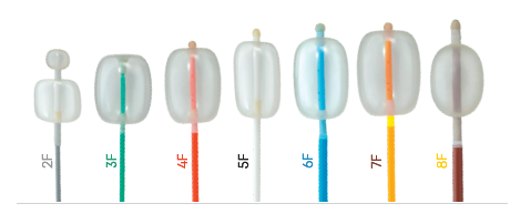 Cathéters à ballonet pour embolectomie artérielle et occlusion
